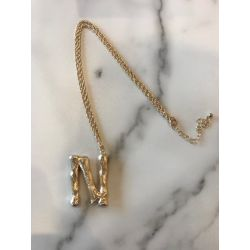 Onyx Crown - Initial Necklace - N